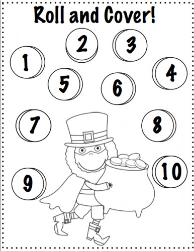 Free Printable St Patrick s Day Dice Game