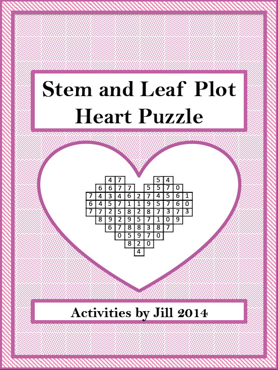 "The Best of Teacher Entrepreneurs FREE MATH LESSON ""Stem and Leaf Plot Heart"