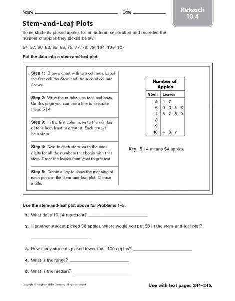 Ideas Collection Stem And Leaf Plot Worksheets About Reference