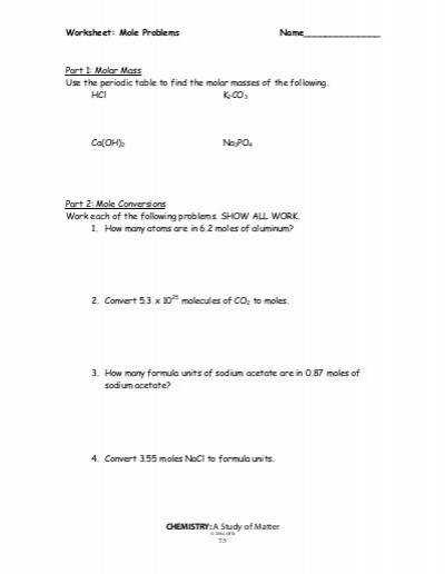 Mole To Mole Stoichiometry Worksheet Samsungblueearth