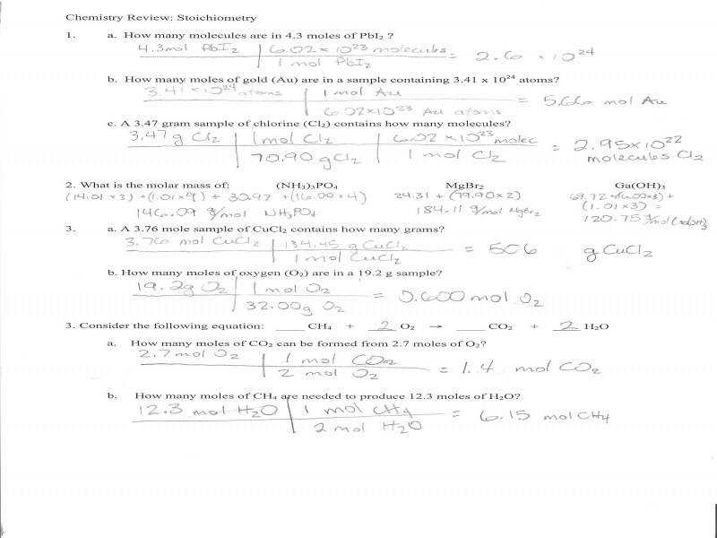 Stoichiometry Worksheet 2 Homeschooldressage