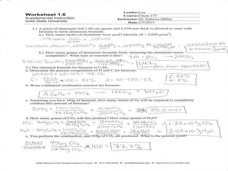 Stoichiometry Worksheet 2 Homeschooldressage Com