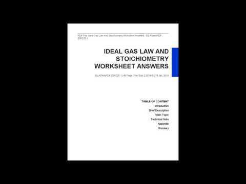Ideal Gas Law And Stoichiometry Worksheet Answers