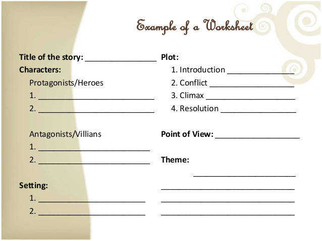 Elements A Short Story Worksheet Bloggakuten