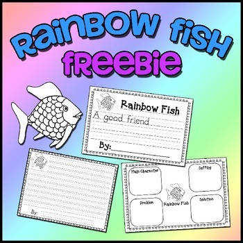 Rainbow Fish Freebie Writing & Story Elements Worksheets