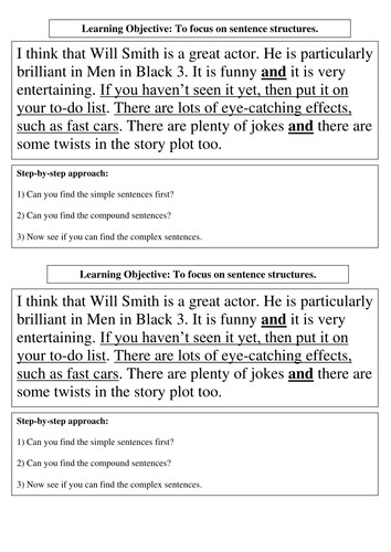 Ideas of Sentence Structure Worksheets For High School Summary Sample