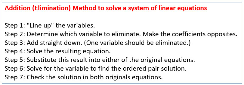 System of Equations Elimination