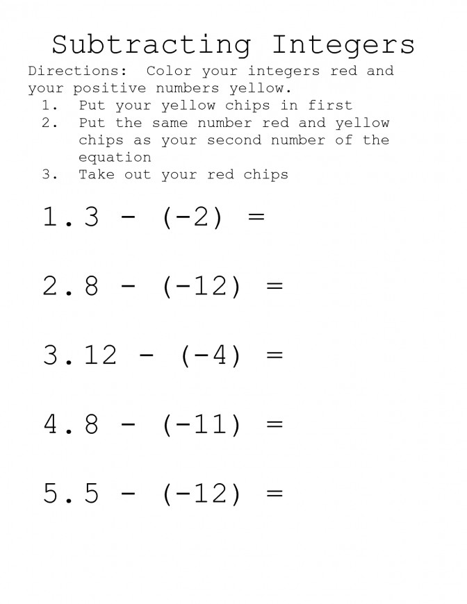 13 Best Adding And Subtracting Integers Worksheet Worksheets Multiplying Dividing Worksheets Worksheets