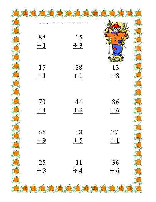 Addition And Subtraction Worksheets Without Regrouping 4