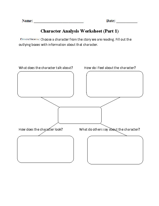 Best Ideas of Characters In A Story Worksheets For Your Summary