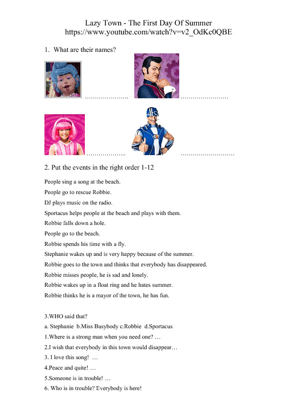 lazy town 0