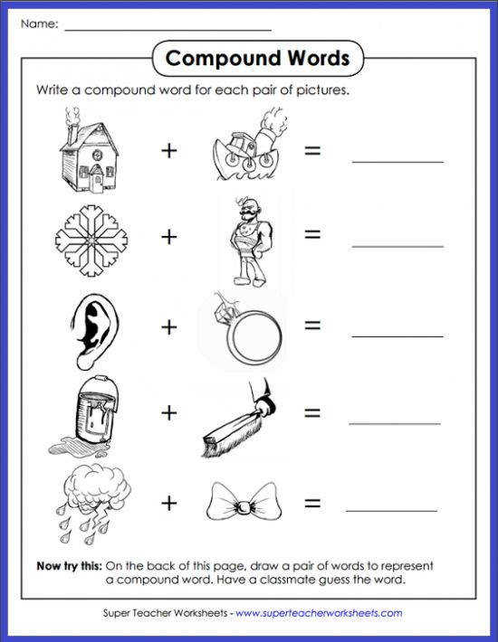Can your students figure out which pound word the pictures make Head on over to pound Word ActivitiesTeacher Worksheets pound