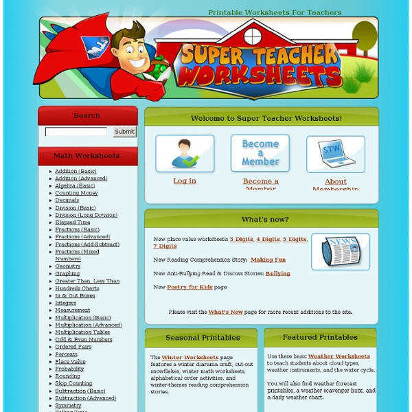 Super Teacher Worksheets Printable Worksheets for Learning Super Teacher Username And Password