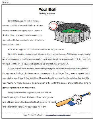 foul ball reading