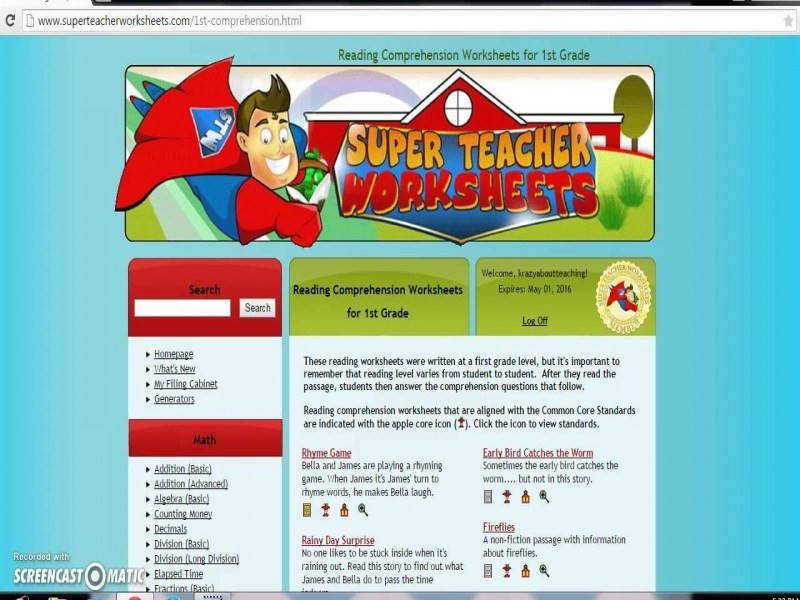 Check Out Super Teacher Worksheets – Youtube