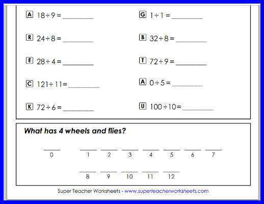 Super Teacher Worksheets Division Division Worksheets