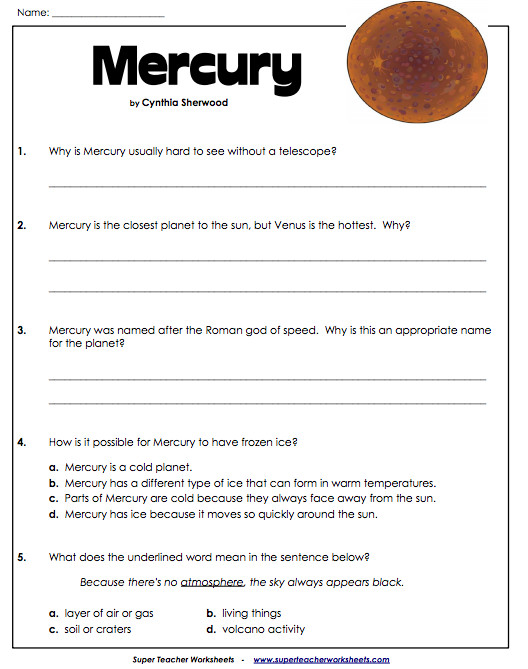 Collection of Solutions Science Super Teacher Worksheets Layout