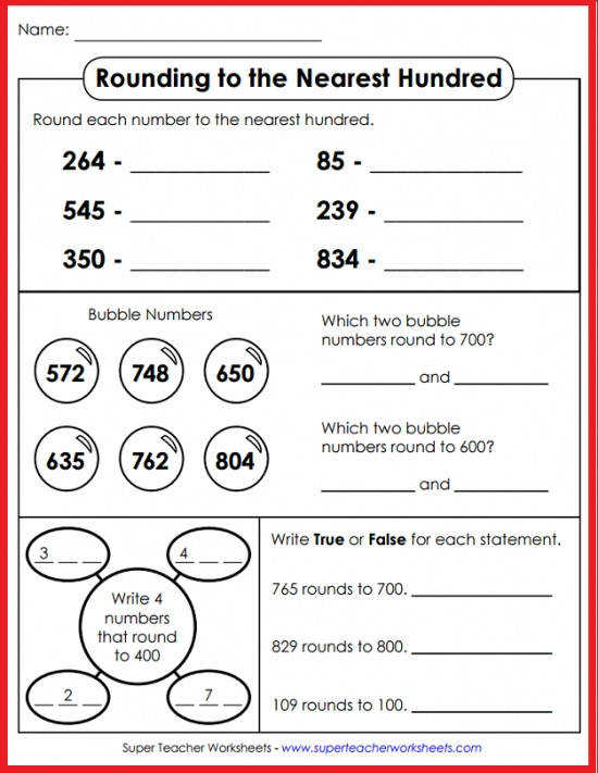 Super Teacher Worksheets has a marvelous collection of rounding resources for kids You ll