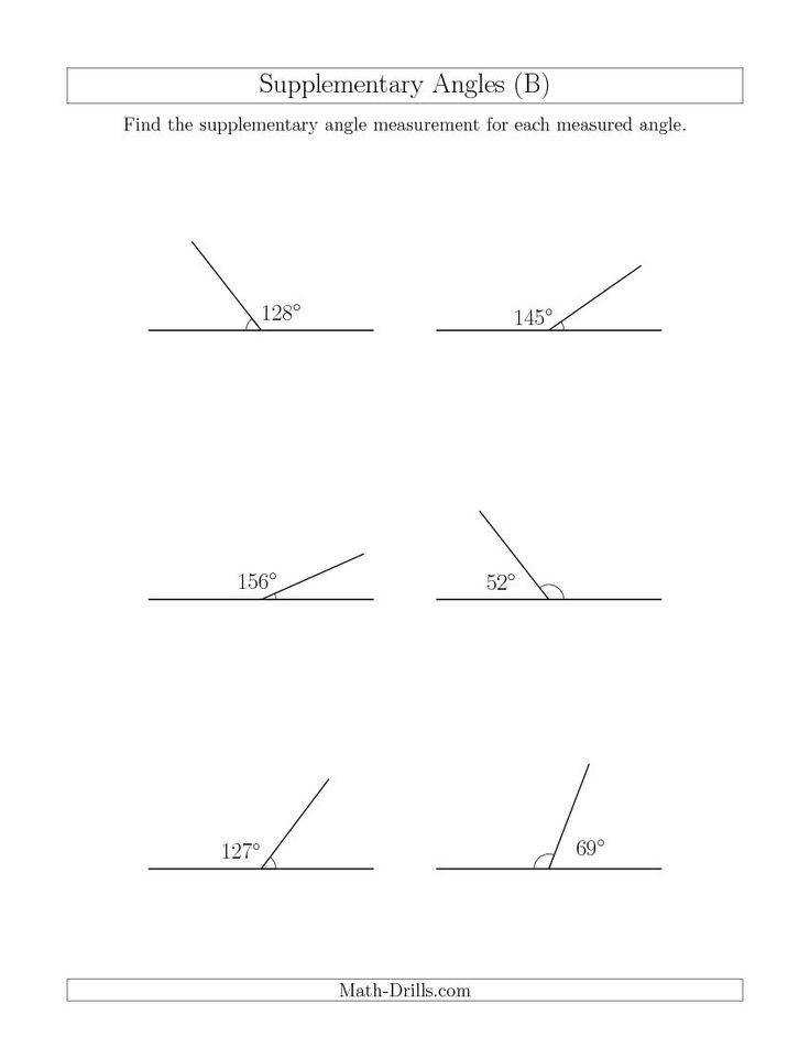 Supplementary Angle Relationships B