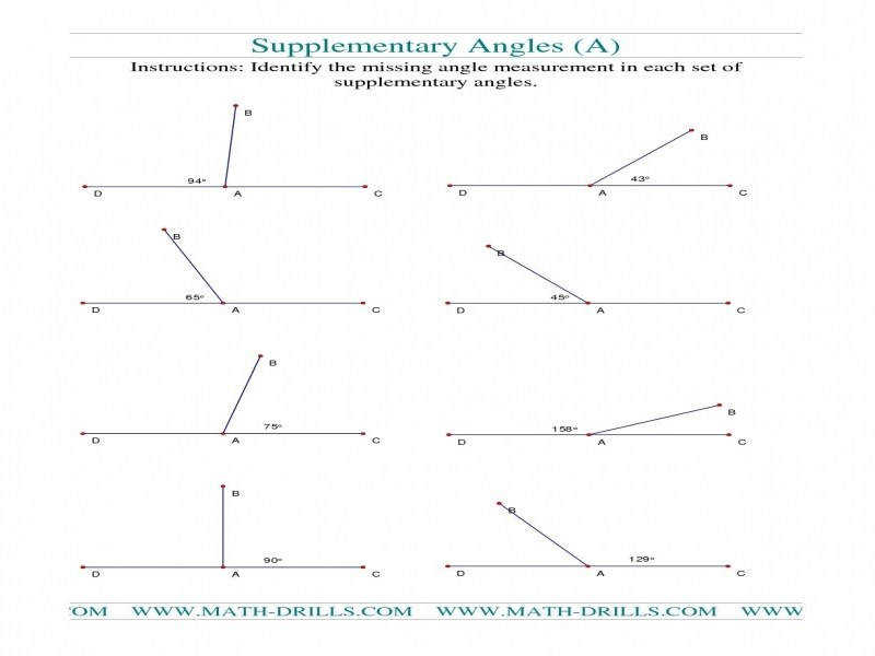 plementary And Supplementary Angles Worksheet Pdf