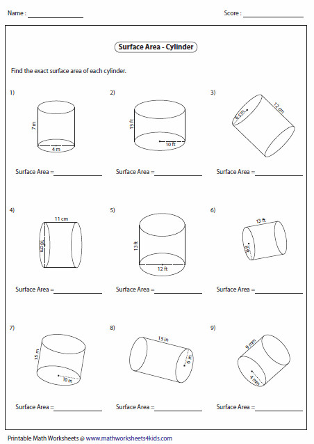 A huge collection of surface area worksheets contain rectangular prism cone cylinder sphere and other prisms and pyramids