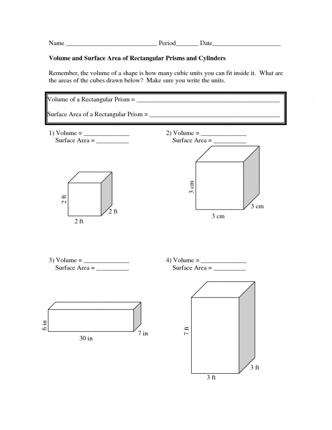 Volume And Surface Area Worksheets 2aa1eeb e b1 5th Grade Math Volume Worksheets Worksheet Medium