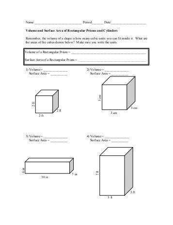 surface area and volume worksheet The McNabbs