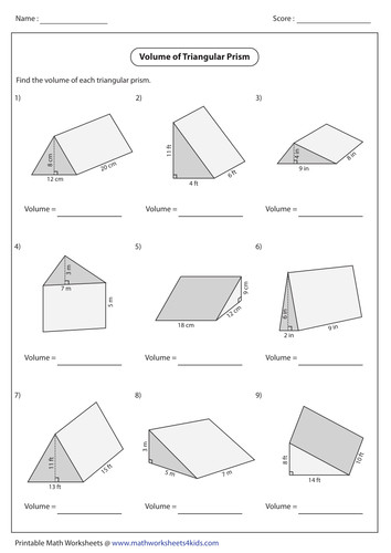 Volume And Surface Area Worksheet Tes Worksheets