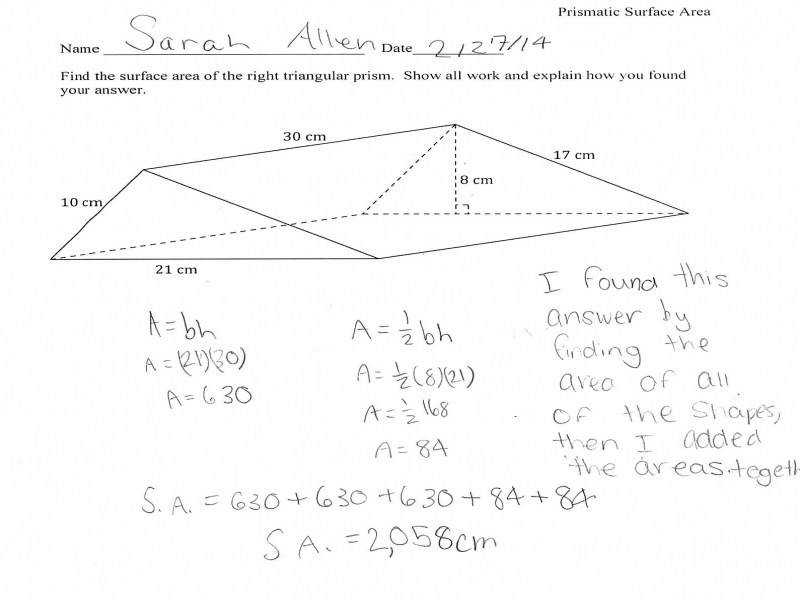 Surface Area Rectangular Prism Worksheet Guillermotull