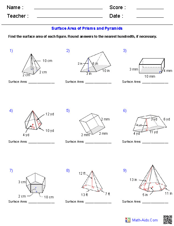 Maths Cuboids and Triangular Prisms by Tristanjones Teaching Volume Worksheets · Volume Worksheets · Volume and Surface Area