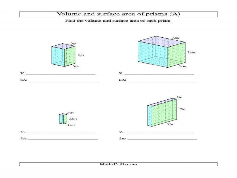 Related Post of Surface Area Rectangular Prism Worksheet Worksheets