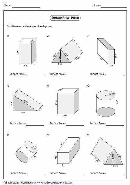 level 1 prism worksheets contain bases in squares rectangles triangles