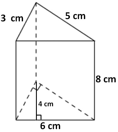 In the above triangular prism there are five faces The shape of the base and top portion is triangle The shape of the faces being as side walls of the