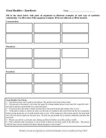 Symbiosis Worksheet by Symbiosis Worksheet To Pin Pinsdaddy