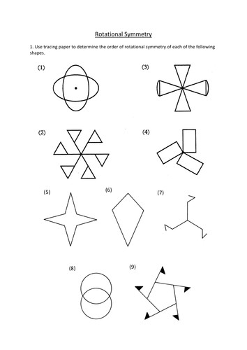 Rotational Symmetry worksheet by dannytheref Teaching Resources Tes