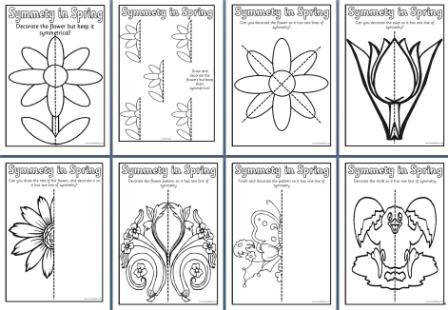 Free Spring Teaching Resources able Butterfly Symmetry page borders printables worksheets display lettering posters life cycles and banners