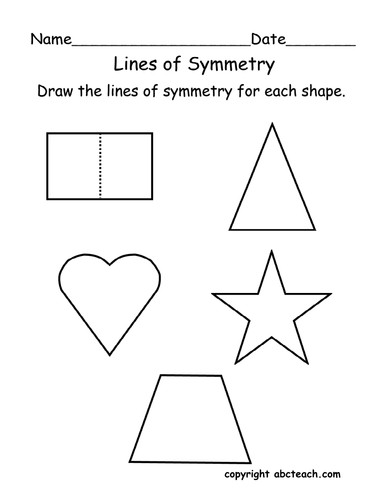 Worksheet Lines of Symmetry primary by abcteach Teaching Resources Tes