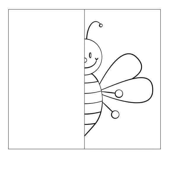 Finish the drawing symmetry worksheets bee drawing symmetry worksheets