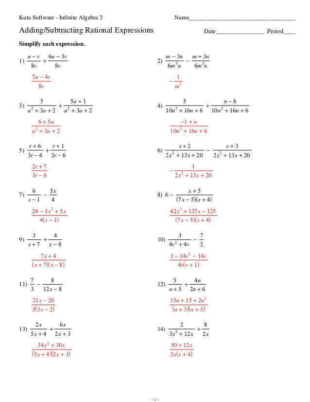 Adding Subtracting Polynomials