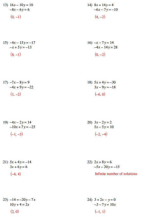 Systems of equations substitution worksheet · Warrayat Instructional Unit