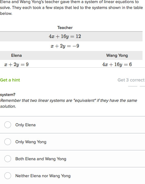 understanding solution methods to systems of equations