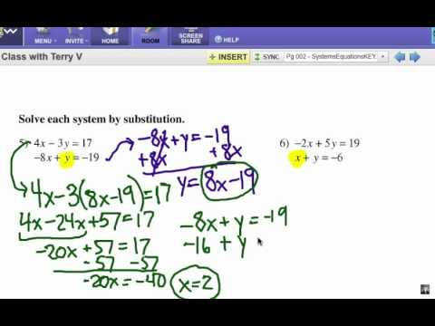 How to Solve Systems of Equations Substitution