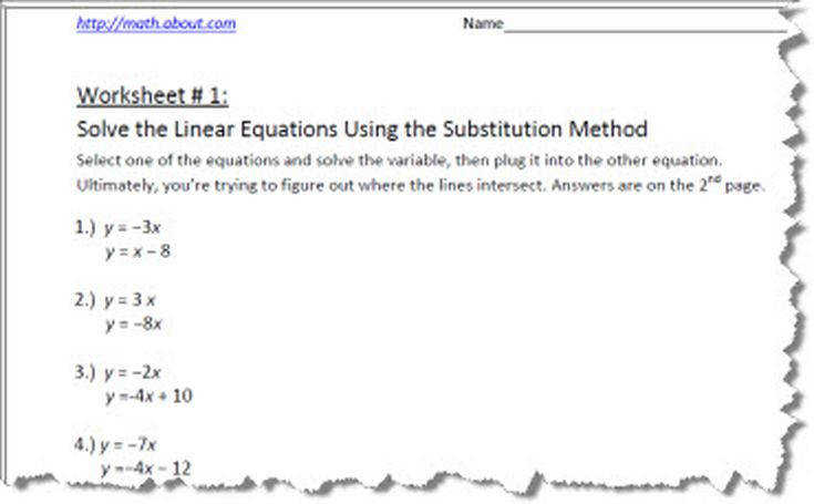Systems of Equations Substitution 1 56a df78cf7728adfd3