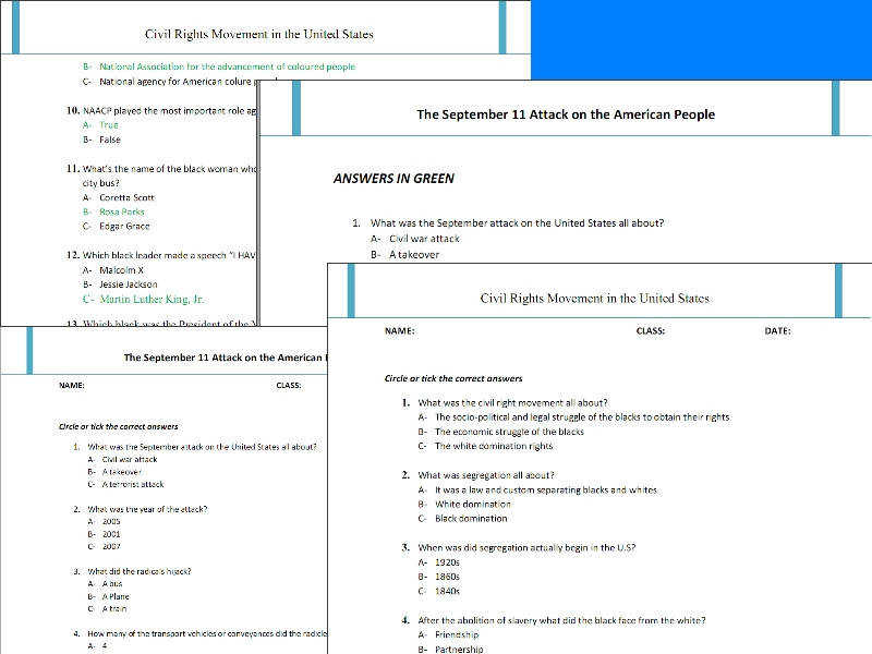 Best super teachers worksheets on Modern American history