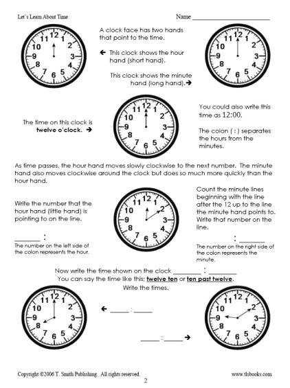13 Best Spanish Telling Time Worksheets Am And Pm Am