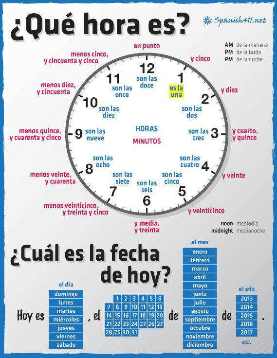 Additional page Spanish Times and Dates lesson plans and activities all for the