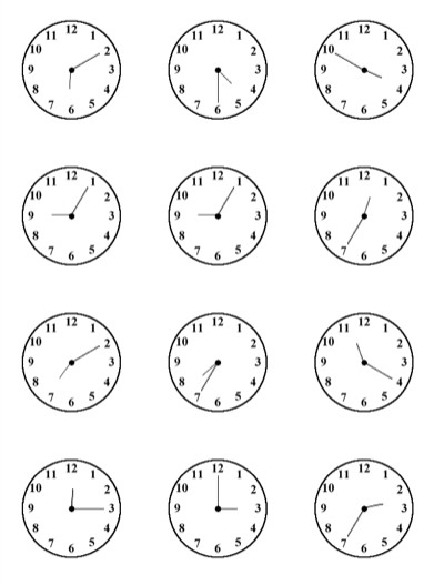 Time practice sheet for kids All this Clock face printables