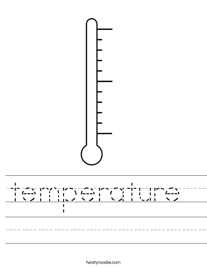 temperature Worksheet