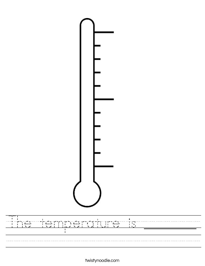 The temperature is Worksheet