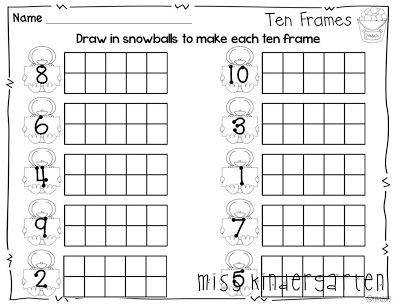Ten Frame Worksheets  HomeschooldressageCom